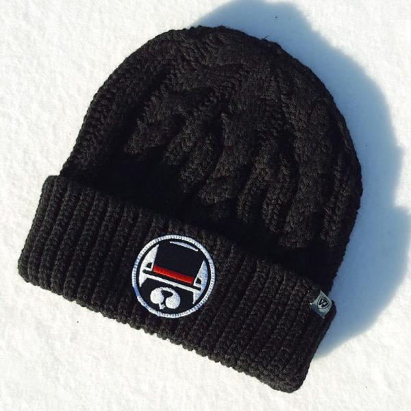 groundhog patch knit cap